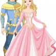 Beautiful prince and princess — Stockvector #4809203