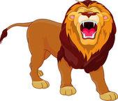 Roaring lion — Stock Vector