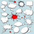 Comics style speech bubbles - Stok Vektr