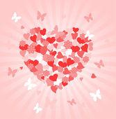 день святого валентина сердце — Cтоковый вектор