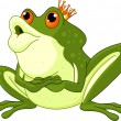 Frog Prince waiting to be kissed - Stock Vector