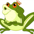 Stock Vector: Frog Prince waiting to be kissed