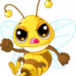 Cute angry Bee — Stock Vector