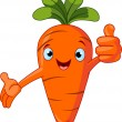 Stock Vector: Carrot Character giving thumbs up