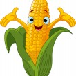 Corn Character Presenting Something — Stock Vector #4878402