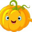 Pumpkin Character  giving thumbs up — Stock Vector