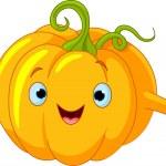 Pumpkin Character giving thumbs up — Stock Vector #4878404