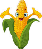 Corn Character Presenting Something — Stock Vector