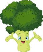 Broccoli Presenting Something — Stock Vector