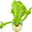 Lettuce Character Presenting Something — Stock Vector #4921747