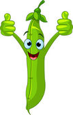 Garden peas Character giving thumbs up — Stock Vector