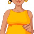 African pregnant woman prepared to be mother — Stock Vector