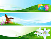 Different Easter banners — Stock Vector