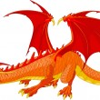 Stock Vector: Red Dragon