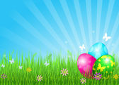 Beautiful Easter eggs background — Stock Vector