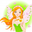 Spring fairy with narcissus — Stock Vector #5156977