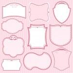 Set of pink vector frames — Stock Vector
