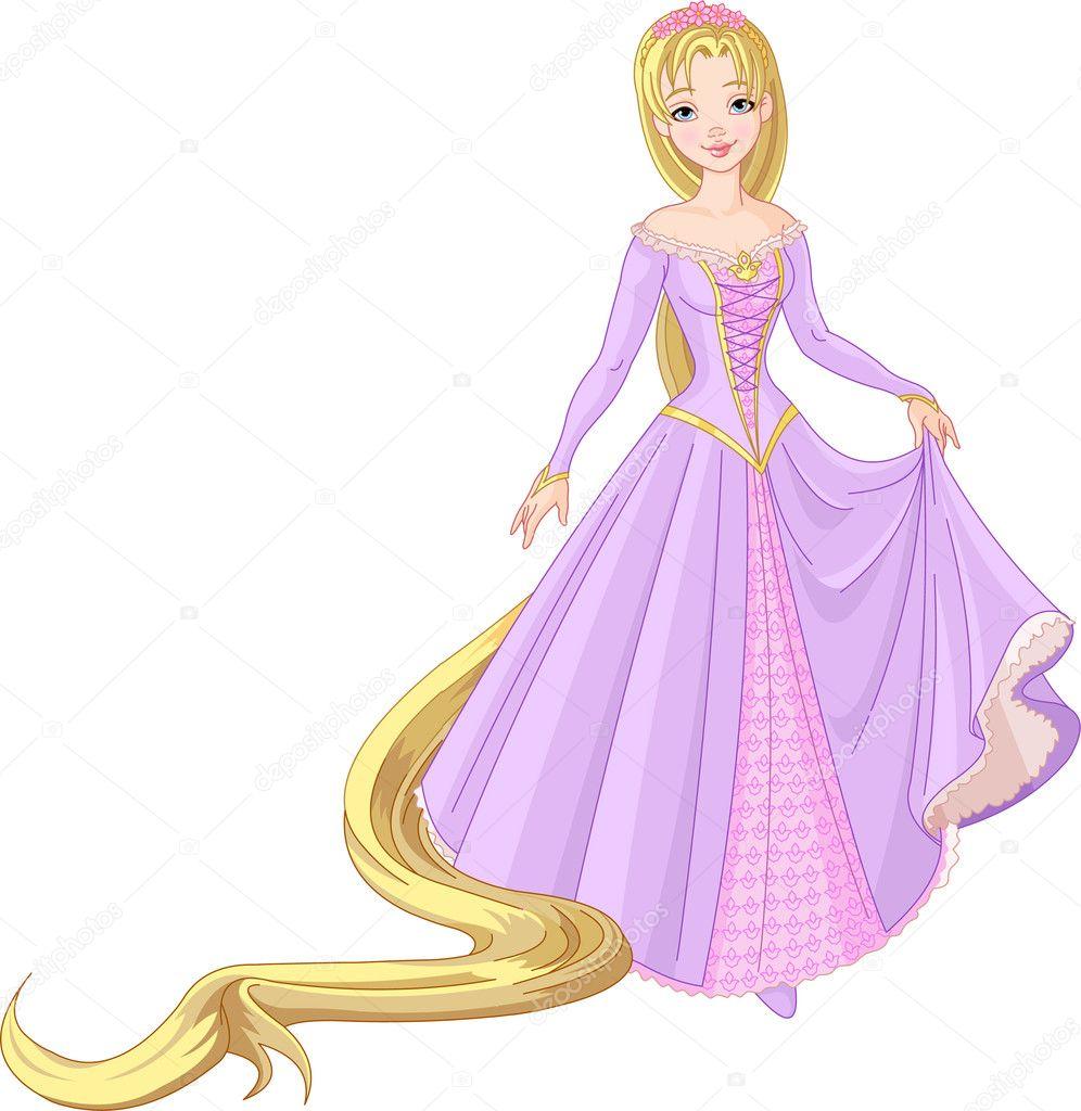 Beautiful princess rapunzel stock vector dazdraperma 5163270 - Rapunzel pictures download ...