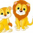 Lion couple - Stock Vector