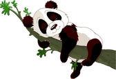 Panda sleeping on a branch — Stock Vector