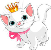 Kitten princess — Stock Vector