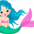 Stock Vector: Mermaid baby Girl