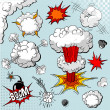 Comic book explosion elements - 