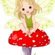 Baby Fairy on the Mushroom — Stock Vector #5226610