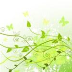 Spring in green — Stock Vector