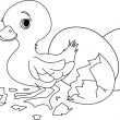 Easter surprise. Coloring page - Stock Vector