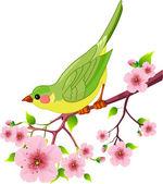 Spring bird — Stock Vector