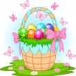 Easter Basket with colorful eggs — Stock Vector #5371964