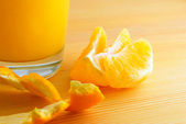 Juice from orange. — Stock Photo