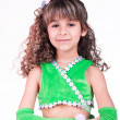 Beautiful little girl dancing — Stock Photo