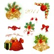 Set of Christmas design elements - Stockvektor