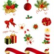 Set of Christmas design elements — Imagen vectorial