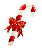 Christmas candy cane decorateded — Stock Vector