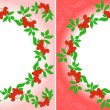 Rowanberry Wreaths - Stock Vector