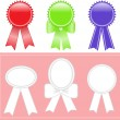 Set of medals - Stock Vector