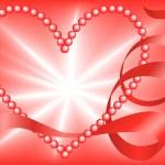 Постер, плакат: Red Pearl Heart