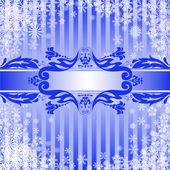 Natale sfondo blu — Vettoriale Stock