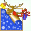 Elk with gifts — Stock Vector