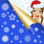 Snow Maiden in snowflakes — Stock Vector