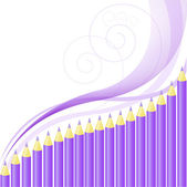 Background of purple crayons — Stock Vector