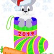 New Year's rabbit - Stock Vector