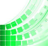 Green transparent squares — Stock Vector