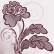 Brown flower - Stock Vector