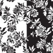 A set of black and white seamless patterns - Stock Vector