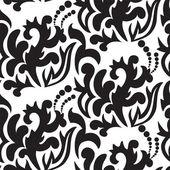 Black floral seamless — Stock Vector