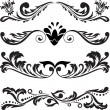 Set of symmetric ornaments 3 — Vector de stock